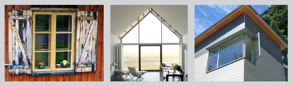 Tipuri de ferestre, fereastra clasica, fereastra mare, perete vitrat, fereastra casa pasiva