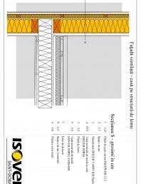 Casa pe structura de lemn - Fatada ventilata