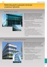 Referinte pentru sistemele de jaluzele verticale si panouri glisante MULTIFILM