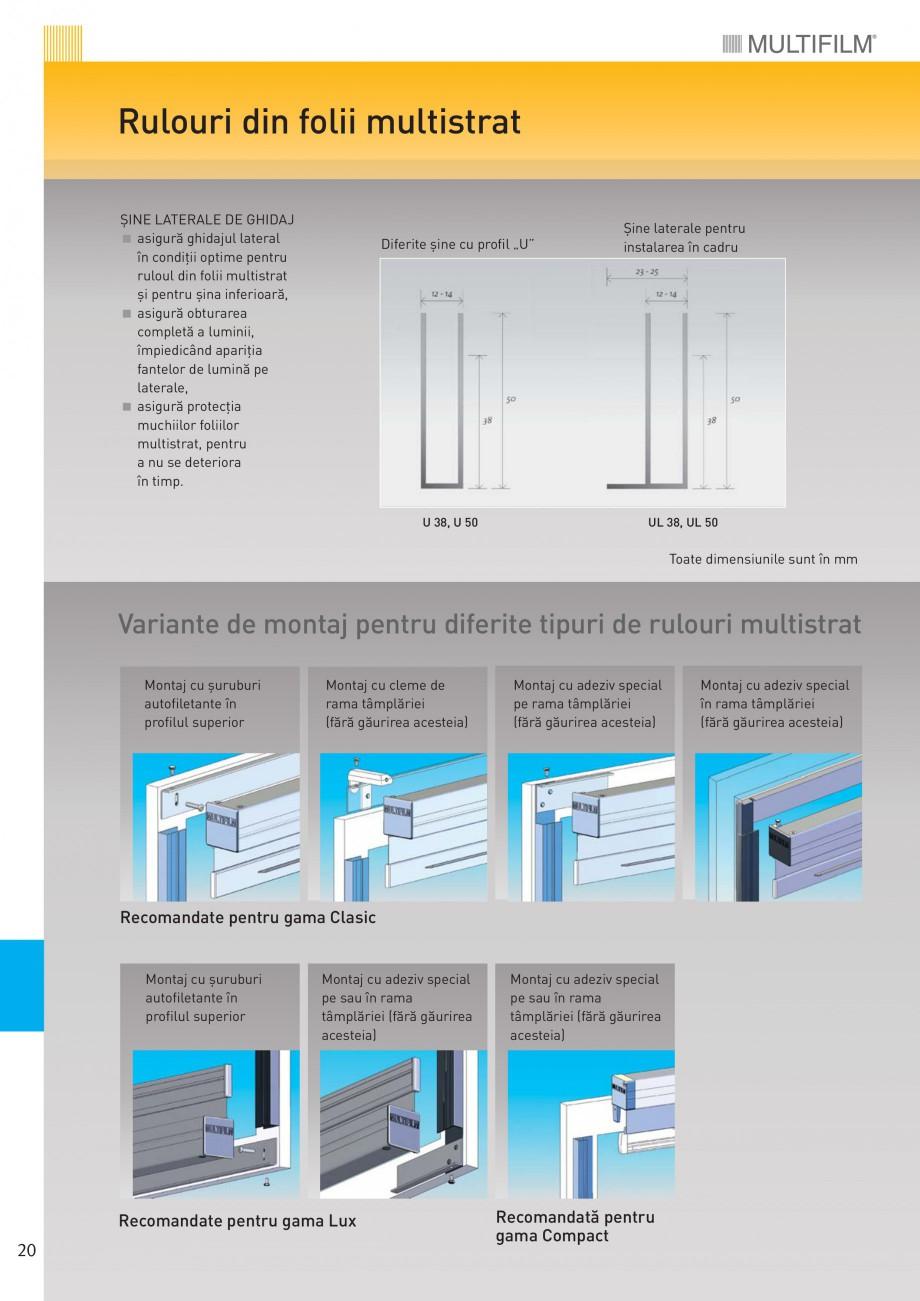 Pagina 2 - Rulouri din folii multistrat MULTIFILM Rulouri cu arc pretensionat Fisa tehnica Romana...