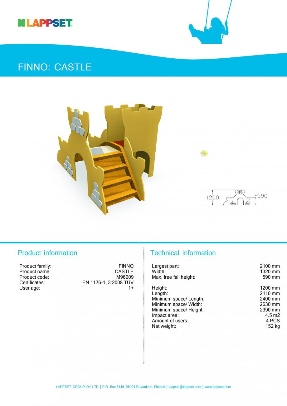 Pagina 1 - Echipament de joaca pentru copii - CASTLE M96009 LAPPSET NEW FINNO Fisa tehnica Engleza...