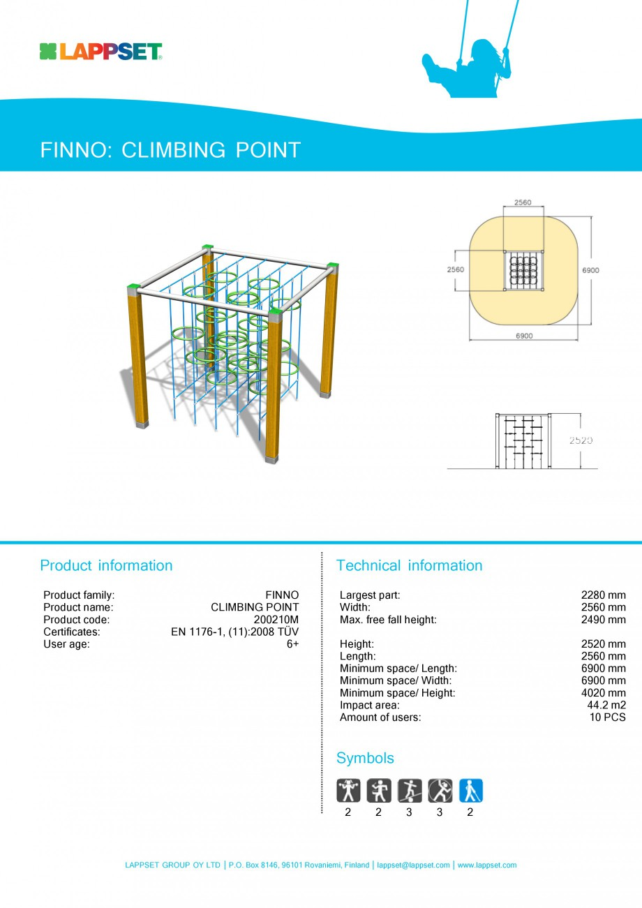 Pagina 1 - Echipament de joaca pentru copii - CLIMBING POINT 200210 LAPPSET NEW FINNO Fisa tehnica...