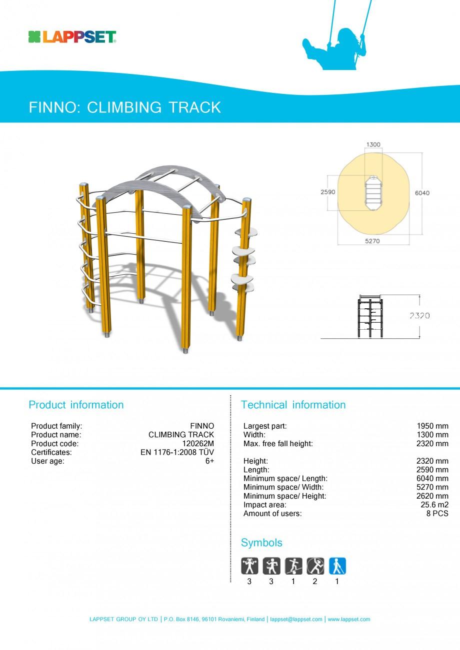 Pagina 1 - Echipament de joaca pentru copii - CLIMBING TRACK 120262M LAPPSET NEW FINNO Fisa tehnica ...