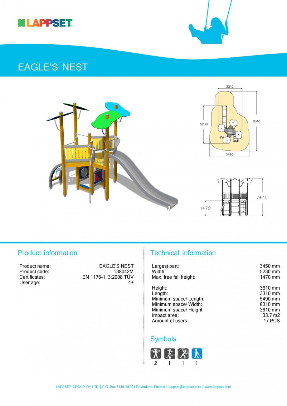 Pagina 1 - Echipament de joaca pentru copii - EAGLE'S NEST 138042M LAPPSET NEW FINNO Fisa...