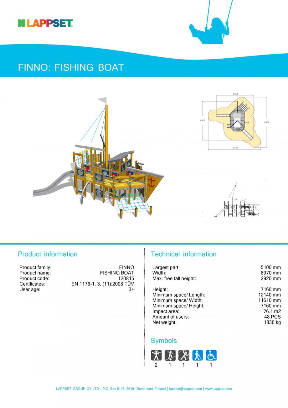 Pagina 1 - Echipament de joaca pentru copii - FISHING BOAT 120815 LAPPSET NEW FINNO Fisa tehnica...