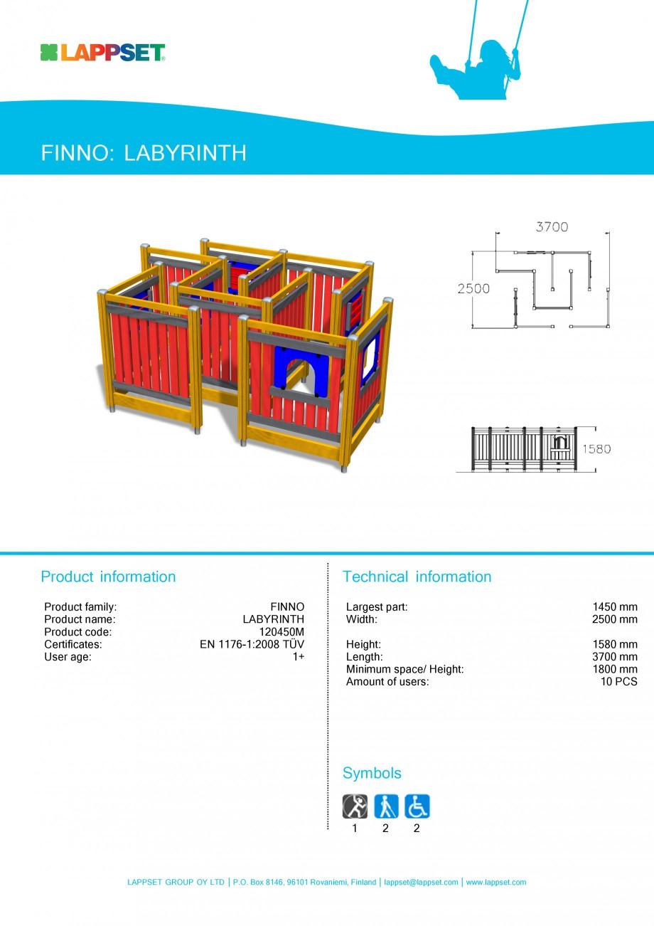 Pagina 1 - Echipament de joaca pentru copii - LABYRINTH 120450M LAPPSET NEW FINNO Fisa tehnica...