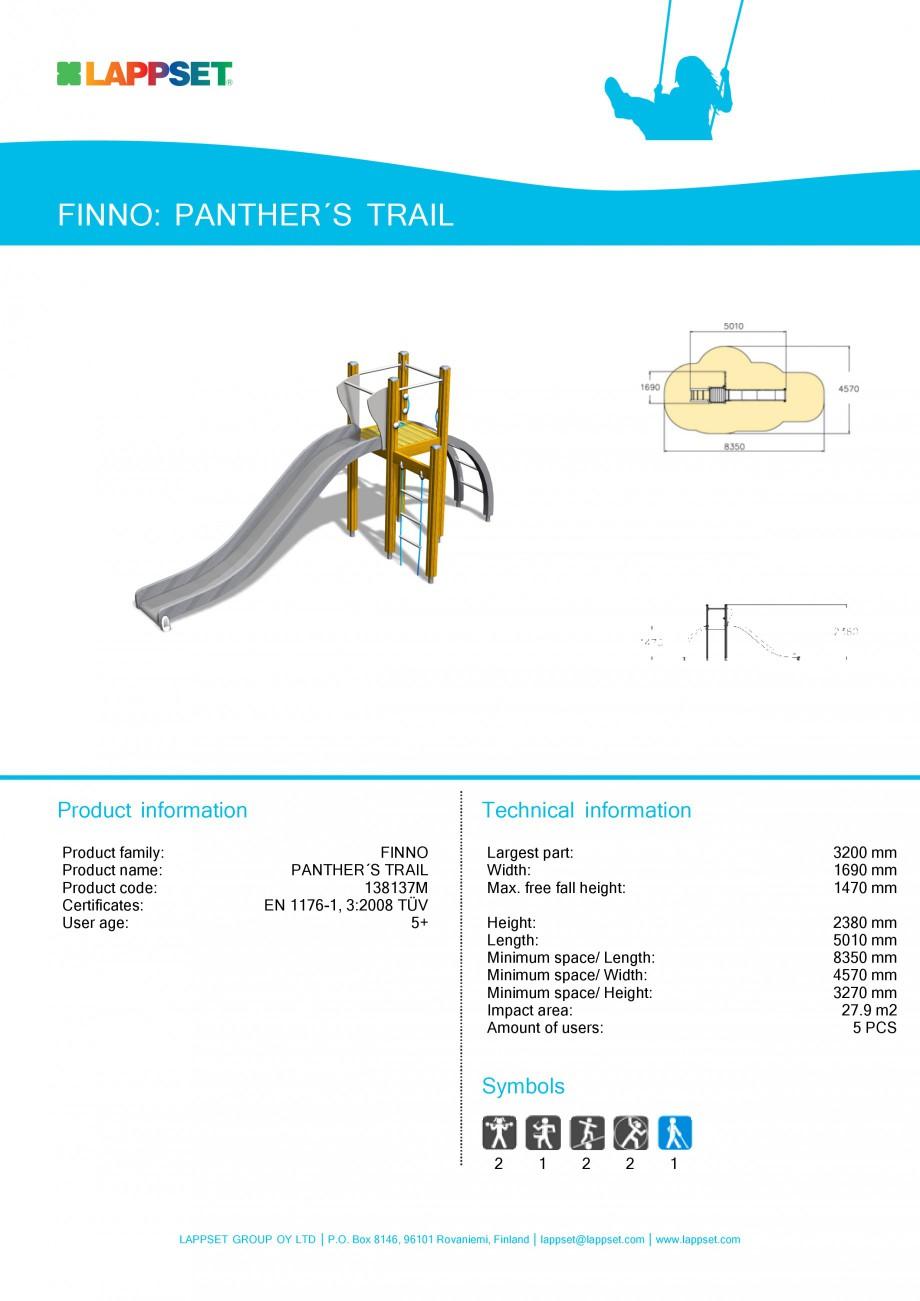 Pagina 1 - Echipament de joaca pentru copii - PANTHER'S TRAIL 138137M LAPPSET NEW FINNO Fisa...