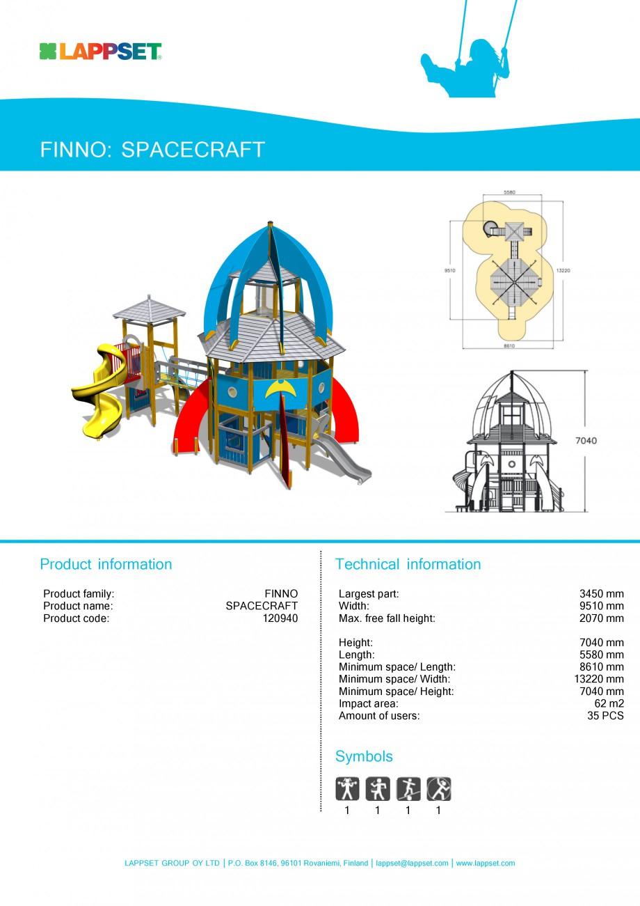 Pagina 1 - Echipament de joaca pentru copii - SPACECRAFT 120940 LAPPSET NEW FINNO Fisa tehnica...