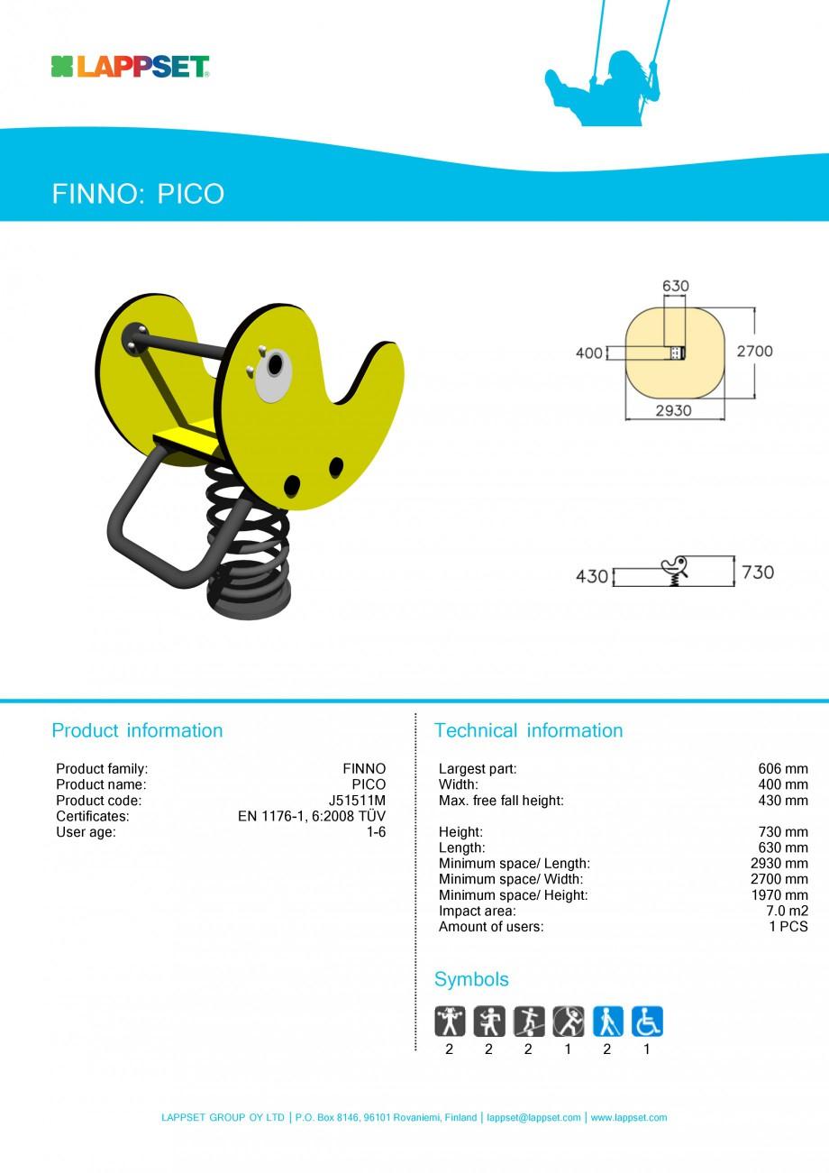 Pagina 1 - Echipament de joaca pentru copii sub 4 ani - PICO J51511M LAPPSET FINNO ABC Fisa tehnica ...