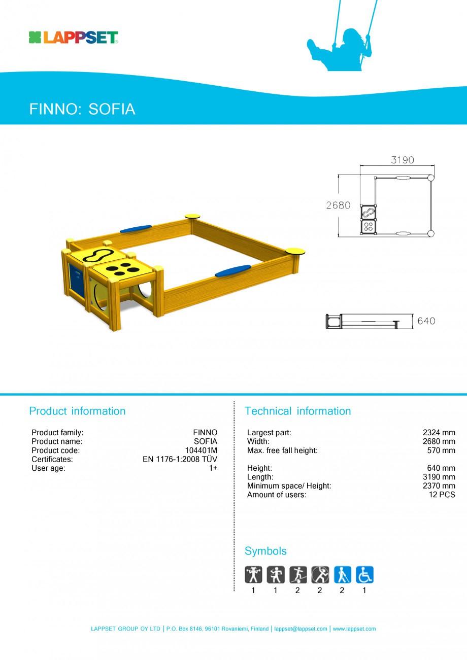 Pagina 1 - Echipament de joaca pentru copii sub 4 ani - SOFIA 104401 LAPPSET FINNO ABC Fisa tehnica ...