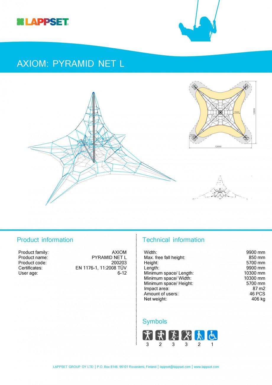 Pagina 1 - Echipament de joaca pentru copii - PYRAMID NET L 200203 LAPPSET Fisa tehnica Engleza...