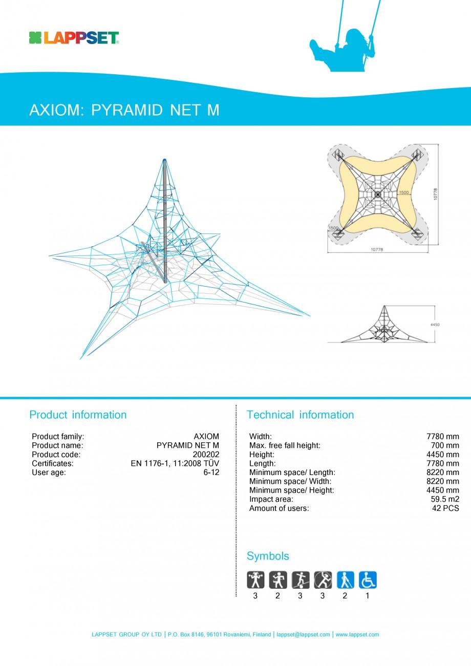 Pagina 1 - Echipament de joaca pentru copii - PYRAMID NET M 200202 LAPPSET Fisa tehnica Engleza...