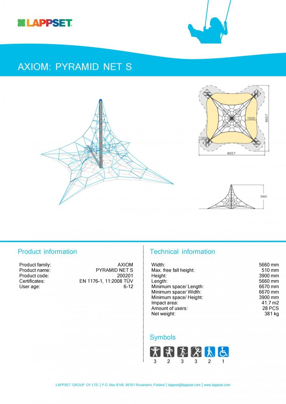 Pagina 1 - Echipament de joaca pentru copii - PYRAMID NET S 200201 LAPPSET Fisa tehnica Engleza...