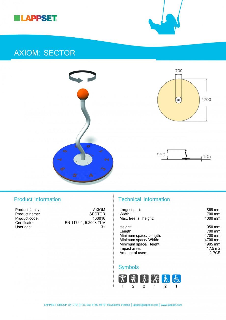 Pagina 1 - Echipament de joaca pentru copii - SECTOR 160016 LAPPSET Fisa tehnica Engleza AXIOM:...
