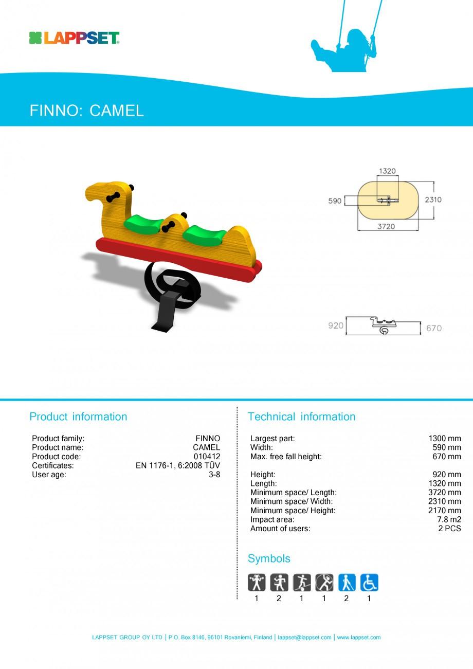 Pagina 1 - Echipament de joaca pentru copii - CAMEL 010412 LAPPSET CLOVER Fisa tehnica Engleza...