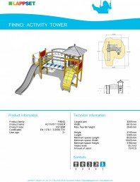 Echipament de joaca pentru copii - ACTIVITY TOWER 120100M