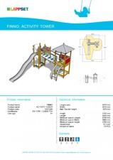 Echipament de joaca pentru copii - ACTIVITY TOWER 120130M LAPPSET