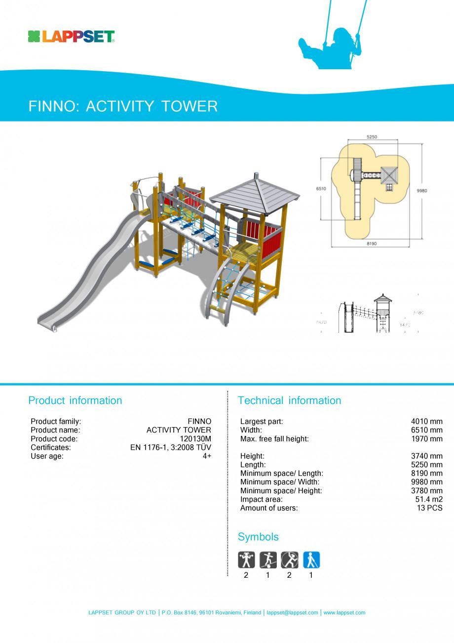 Pagina 1 - Echipament de joaca pentru copii - ACTIVITY TOWER 120130M LAPPSET NEW FINNO Fisa tehnica ...