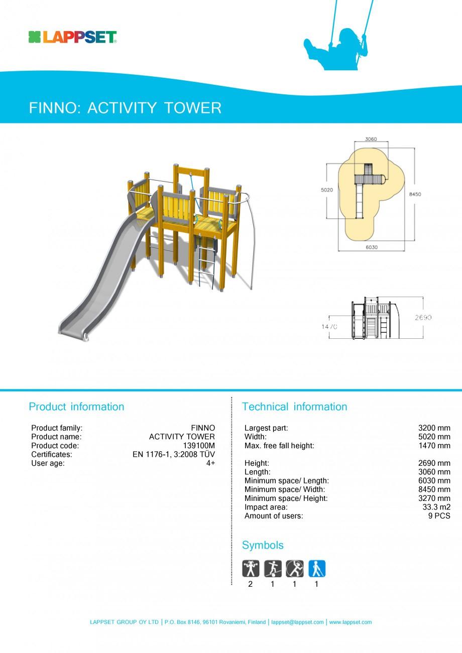 Pagina 1 - Echipament de joaca pentru copii - ACTIVITY TOWER 139100M LAPPSET NEW FINNO Fisa tehnica ...
