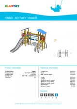 Echipament de joaca pentru copii - ACTIVITY TOWER 139105M LAPPSET