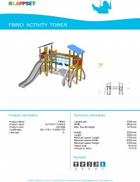Echipament de joaca pentru copii - ACTIVITY TOWER 139105M