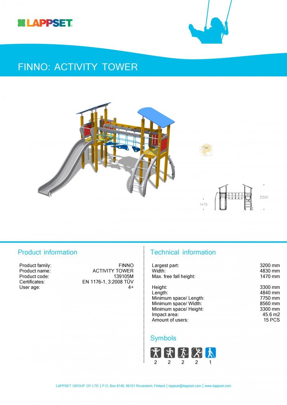 Pagina 1 - Echipament de joaca pentru copii - ACTIVITY TOWER 139105M LAPPSET NEW FINNO Fisa tehnica ...
