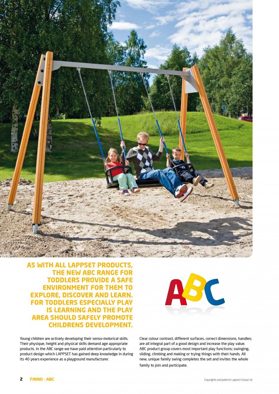 Pagina 2 - Echipamente de joaca din lemn pentru copii foarte mici LAPPSET FINNO ABC Catalog, brosura...