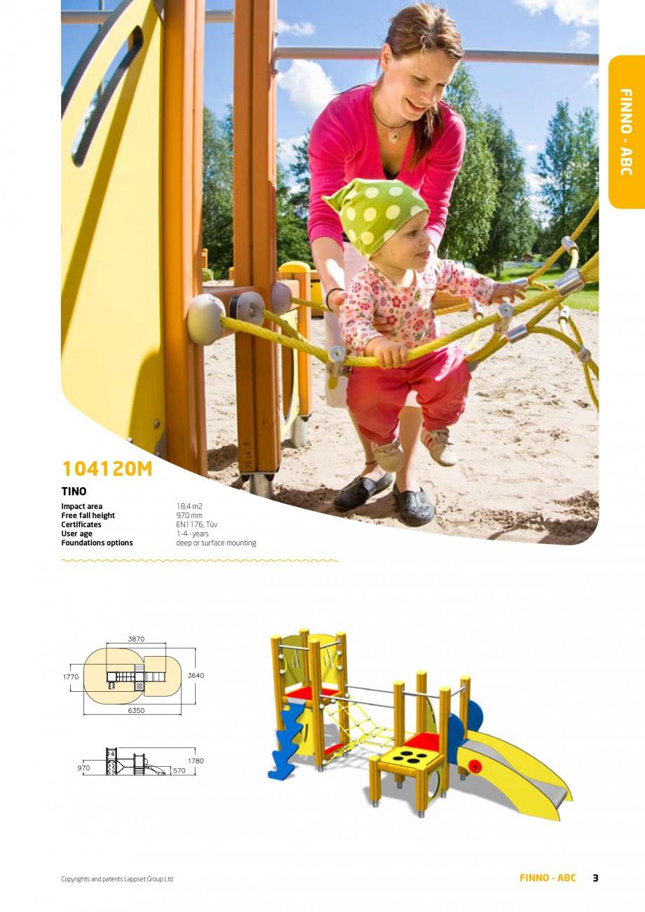 Pagina 3 - Echipamente de joaca din lemn pentru copii foarte mici LAPPSET FINNO ABC Catalog, brosura...