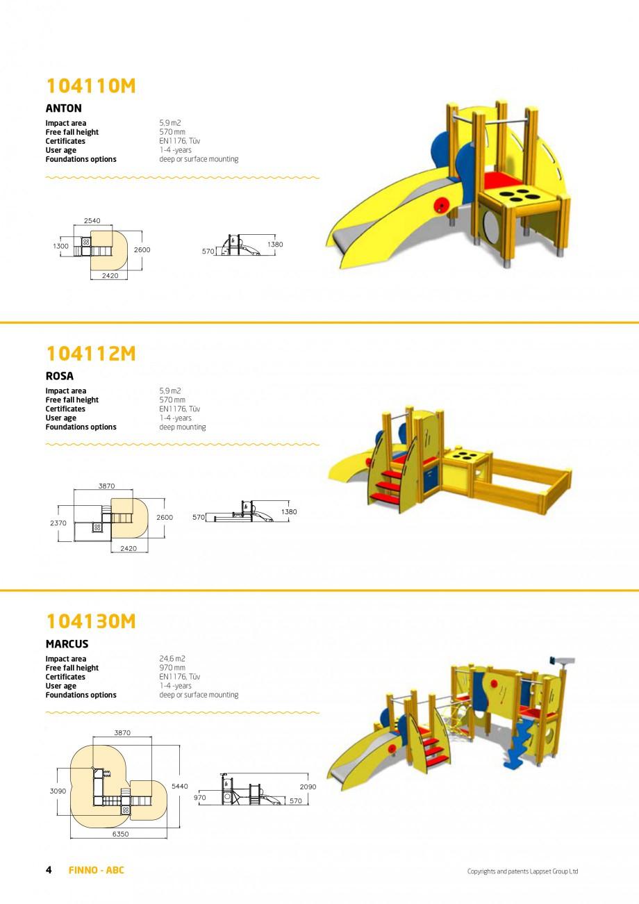 Pagina 4 - Echipamente de joaca din lemn pentru copii foarte mici LAPPSET FINNO ABC Catalog, brosura...