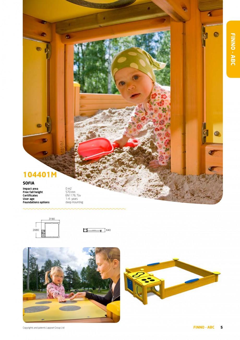 Pagina 5 - Echipamente de joaca din lemn pentru copii foarte mici LAPPSET FINNO ABC Catalog, brosura...