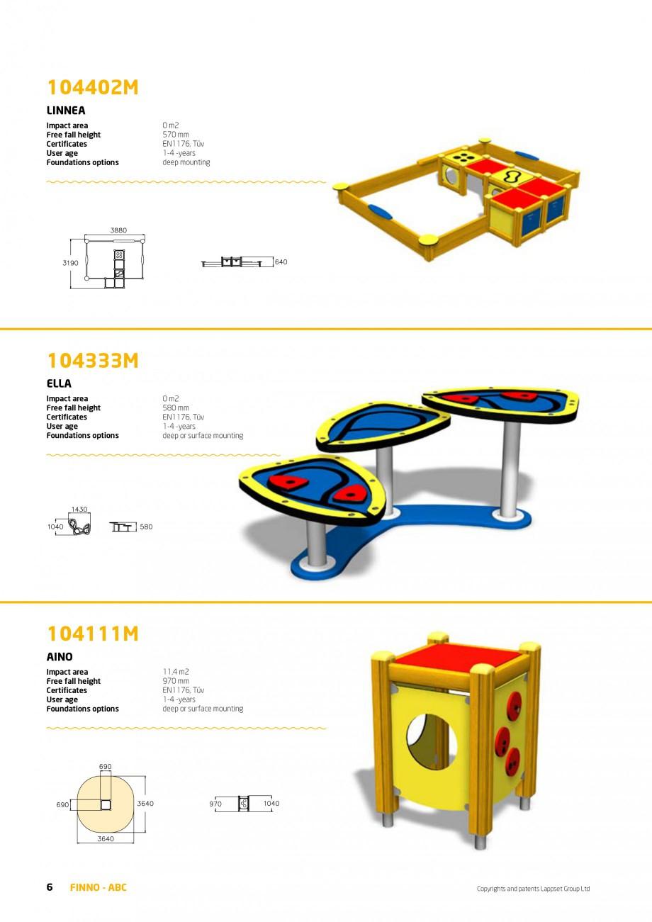 Pagina 6 - Echipamente de joaca din lemn pentru copii foarte mici LAPPSET FINNO ABC Catalog, brosura...