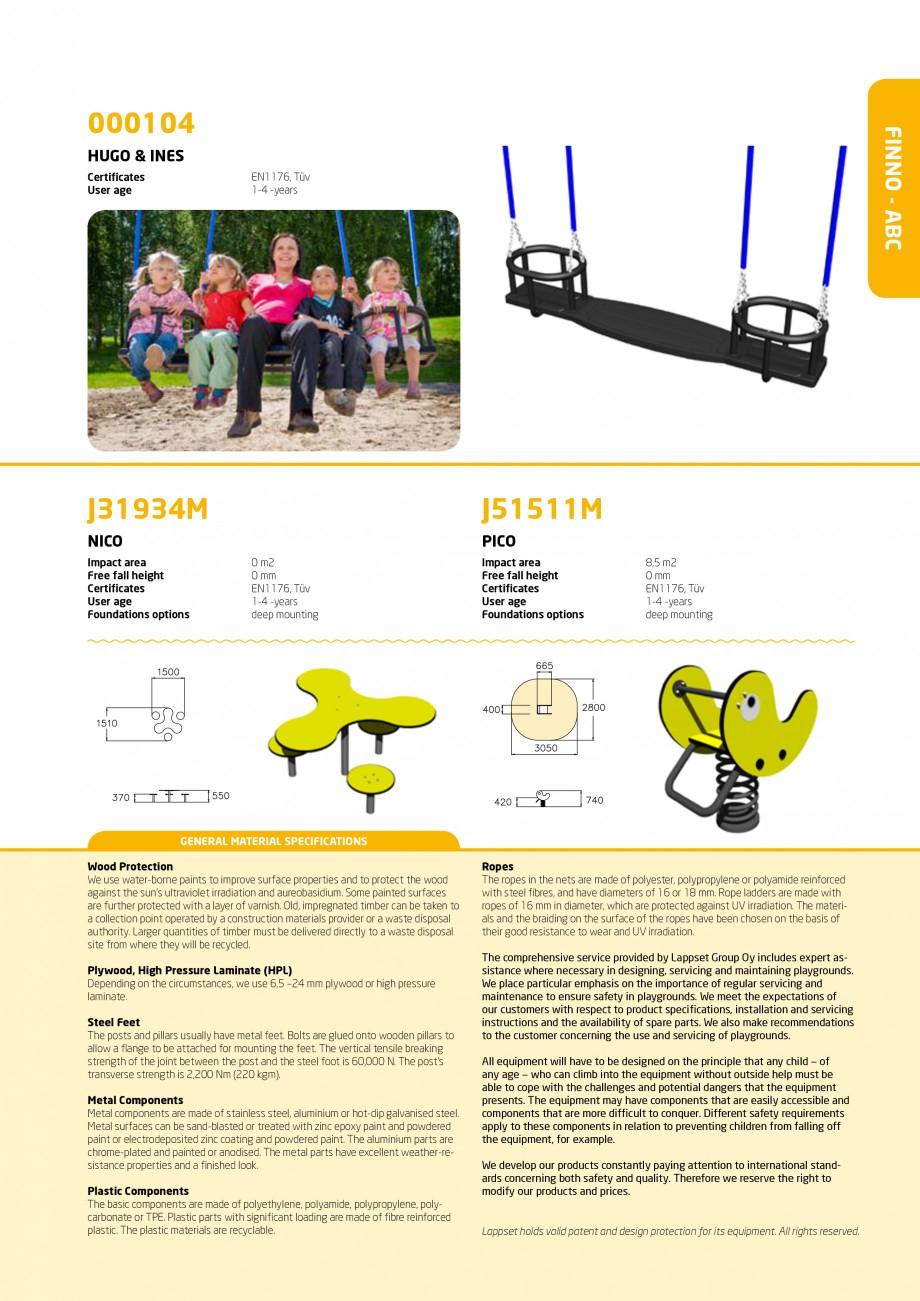 Pagina 7 - Echipamente de joaca din lemn pentru copii foarte mici LAPPSET FINNO ABC Catalog, brosura...