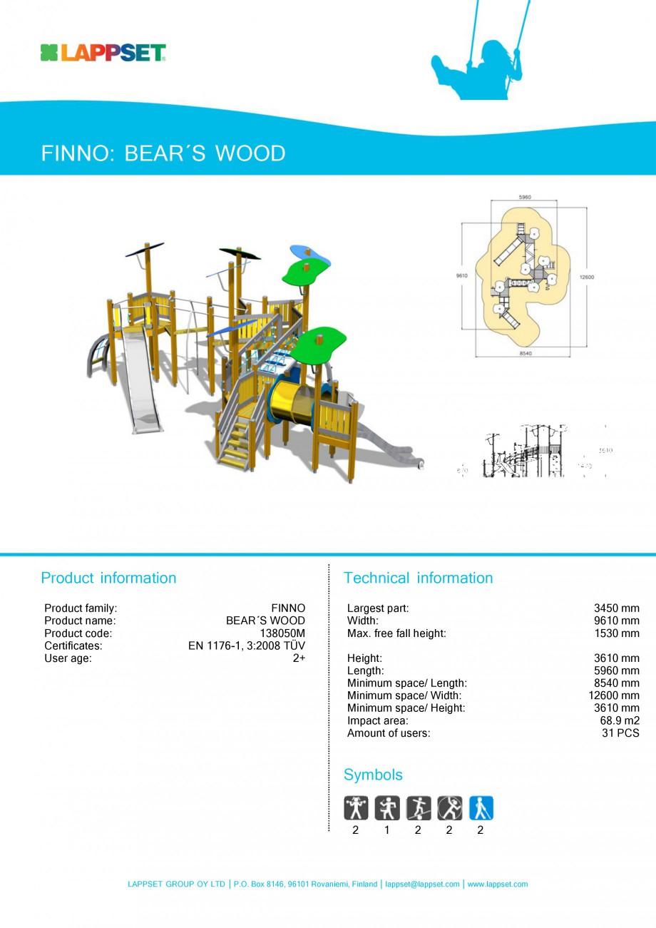 Pagina 9 - Echipamente de joaca din lemn pentru copii LAPPSET NEW FINNO Fisa tehnica Engleza ngth:...