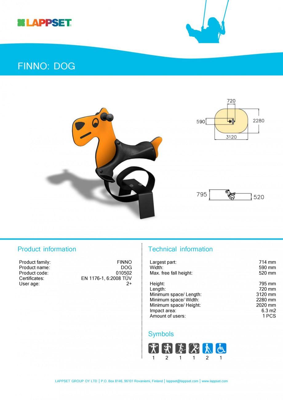 Pagina 19 - Echipamente de joaca din lemn pentru copii LAPPSET NEW FINNO Fisa tehnica Engleza 0 mm...