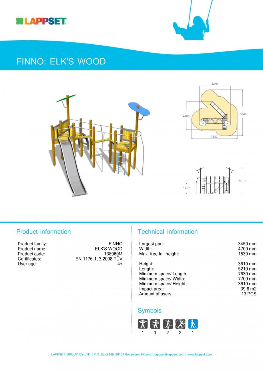 Pagina 21 - Echipamente de joaca din lemn pentru copii LAPPSET NEW FINNO Fisa tehnica Engleza mm...