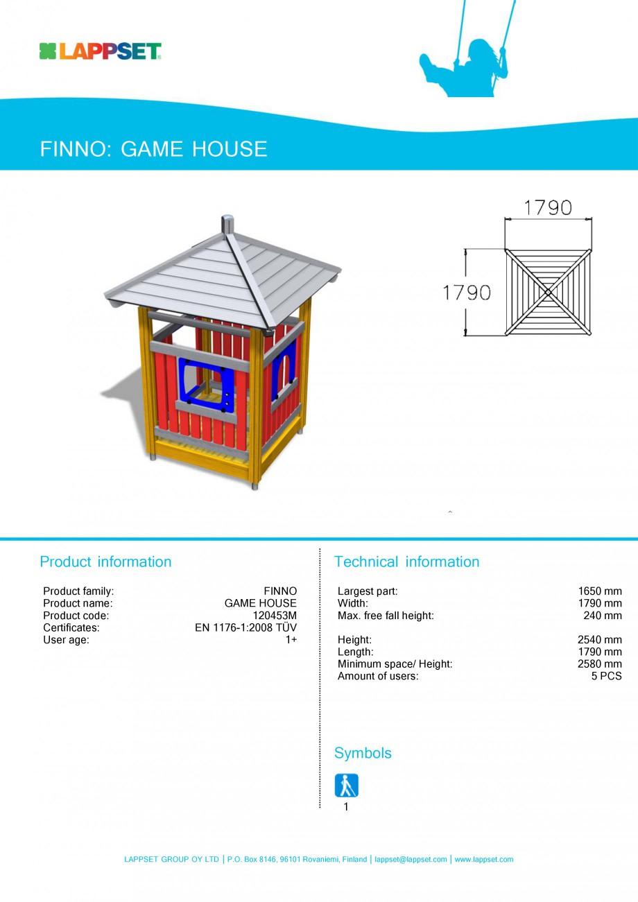Pagina 23 - Echipamente de joaca din lemn pentru copii LAPPSET NEW FINNO Fisa tehnica Engleza 08...