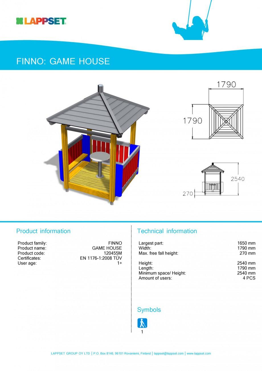 Pagina 24 - Echipamente de joaca din lemn pentru copii LAPPSET NEW FINNO Fisa tehnica Engleza ation ...