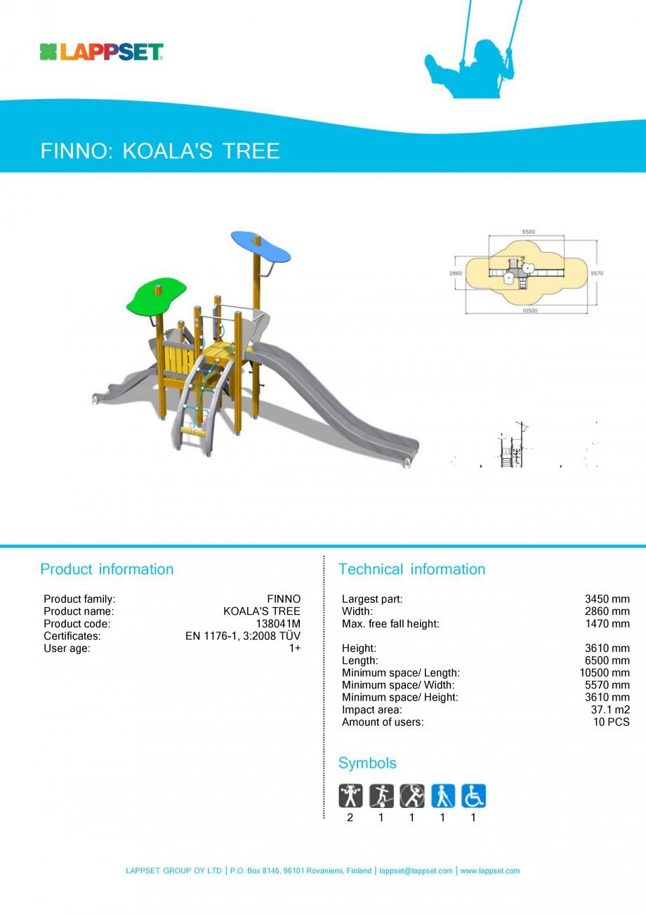 Pagina 29 - Echipamente de joaca din lemn pentru copii LAPPSET NEW FINNO Fisa tehnica Engleza mm...