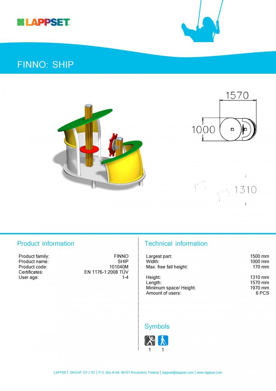Pagina 53 - Echipamente de joaca din lemn pentru copii LAPPSET NEW FINNO Fisa tehnica Engleza