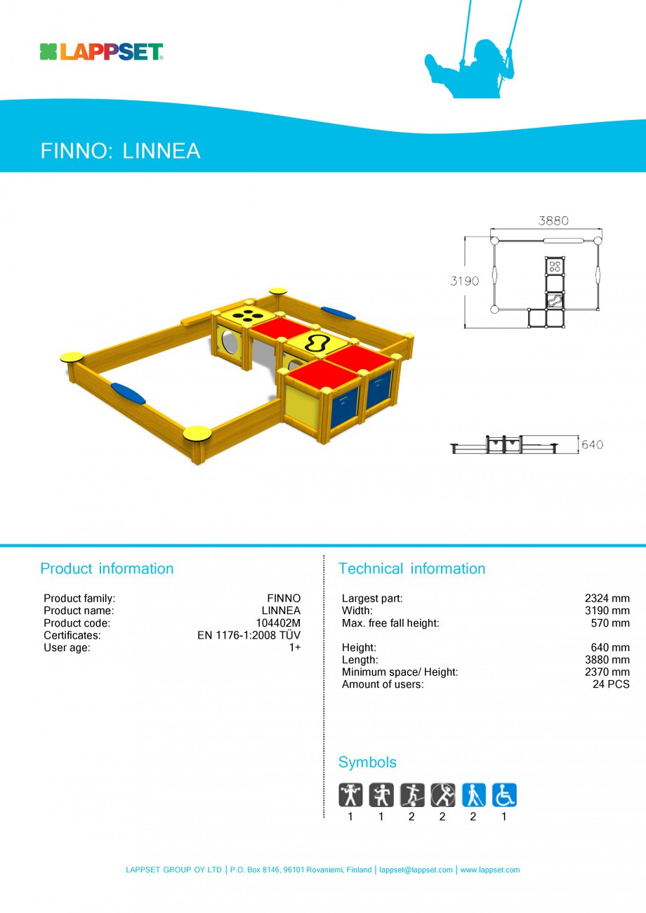 Pagina 4 - Echipamente de joaca din lemn pentru copii foarte mici LAPPSET FINNO ABC Fisa tehnica...