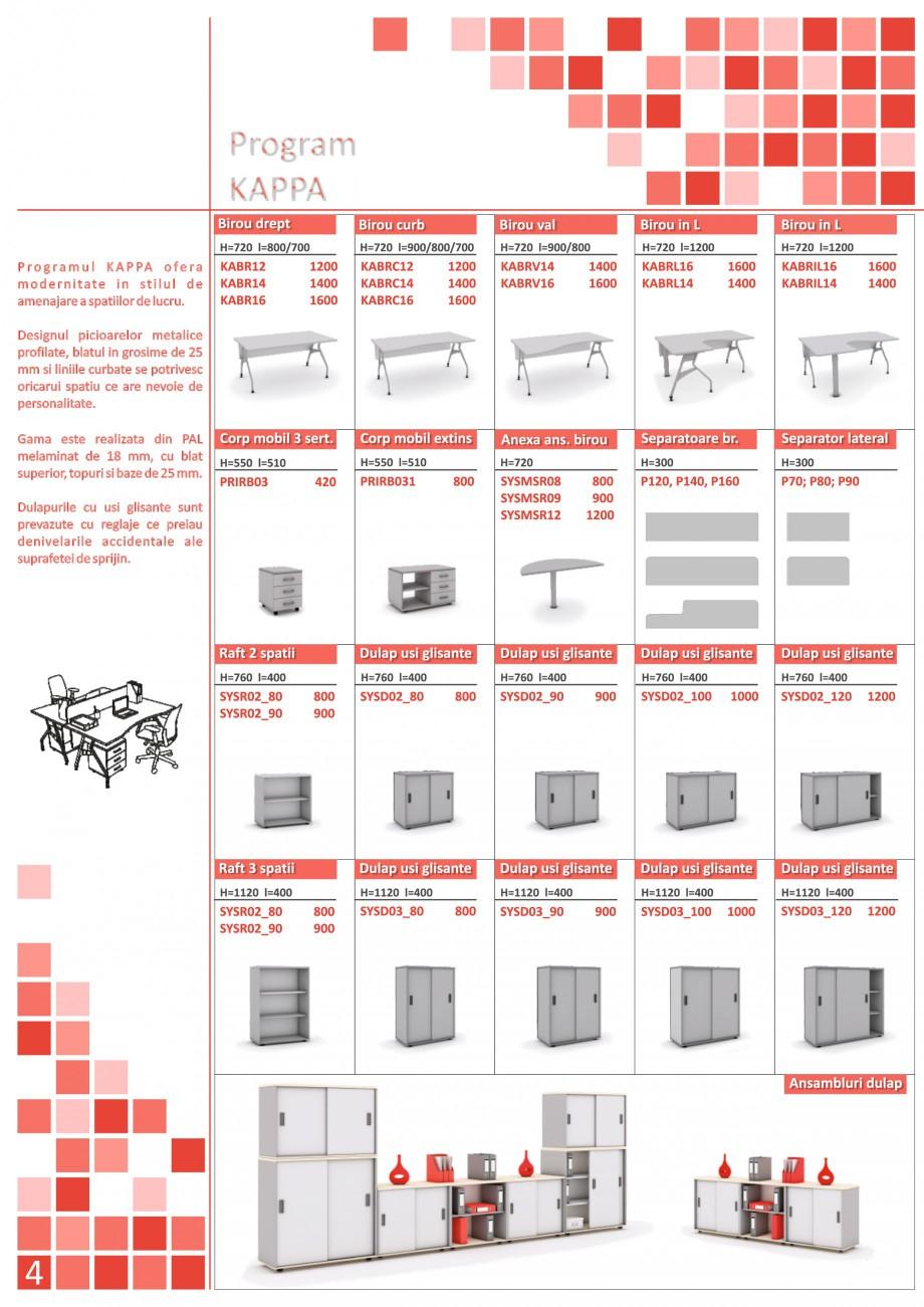 Catalog, brosura Mobilier pentru birouri - gama executiva CLBRC16 P160, CLUB01, CLUB02, KABRC16 P160, KABRC16 P160 x2, KABRC16 P160/P80, KAPPA01, KAPPA02, SYS01, SYS02, SYS03, SYS04, SYSBRC16 P160, SYSBRC16 P160/P80_2, SYSBRC16 P160/P80, SYSBRL16 SYSMSR12 P120, SYSBRV16 P160, SYSD02_80 SYSR02_80, SYSD03_100 SYSD02_80 SYSR02_80, SYSD03_100/SYSD02_100, SYSD03_100/SYSD02_100 SYSD02_80 SYSR02_80, SYSD03_100/SYSD02_100 SYSR02_90 The Prince International Mobilier pentru birouri PRINCE INTERNATIONAL  - Pagina 4