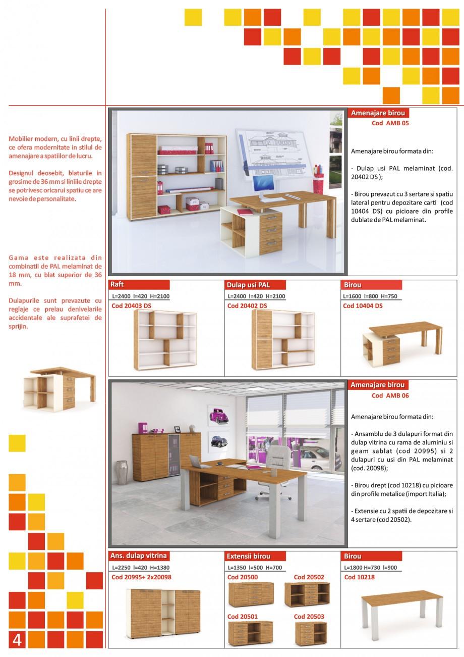 Catalog, brosura Mobilier pentru birouri - gama directoriala AMB 01, AMB 02, AMB 03, AMB 04, AMB 05, AMB 06, AMB 07, AMB 08, AMB 09, AMB 10, AMB 11, AMB 12, AMB 13, AMB 14, AMB 15, AMB 16, AMB 17, AMB 18 The Prince International Mobilier pentru birouri PRINCE INTERNATIONAL  - Pagina 4