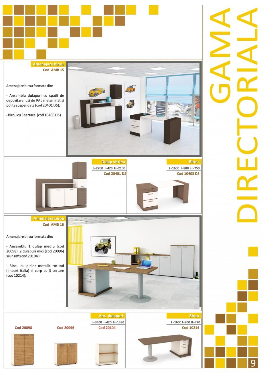 Catalog, brosura Mobilier pentru birouri - gama directoriala AMB 01, AMB 02, AMB 03, AMB 04, AMB 05, AMB 06, AMB 07, AMB 08, AMB 09, AMB 10, AMB 11, AMB 12, AMB 13, AMB 14, AMB 15, AMB 16, AMB 17, AMB 18 The Prince International Mobilier pentru birouri PRINCE INTERNATIONAL  - Pagina 9