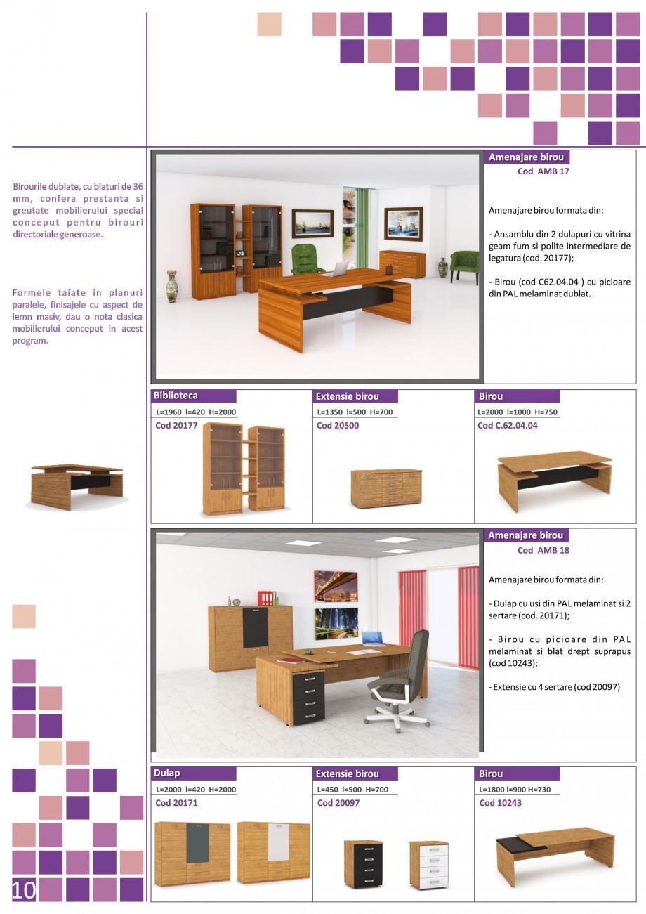 Catalog, brosura Mobilier pentru birouri - gama directoriala AMB 01, AMB 02, AMB 03, AMB 04, AMB 05, AMB 06, AMB 07, AMB 08, AMB 09, AMB 10, AMB 11, AMB 12, AMB 13, AMB 14, AMB 15, AMB 16, AMB 17, AMB 18 The Prince International Mobilier pentru birouri PRINCE INTERNATIONAL  - Pagina 10