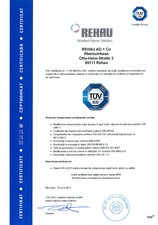 Certificat TÜV REHAU