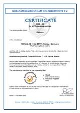 Certificat VHI REHAU