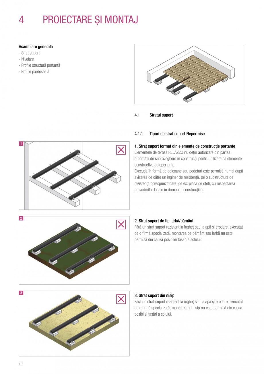 Instructiuni montaj, utilizare Sistemul de pavare terase RELAZZO Deck, RELAZZO Rhombus, RELAZZO Screen REHAU Decking compozit tip WPC pentru pavaje terase, pardoseli piscine - RELAZZO REHAU POLYMER cum ar fi soluţiiile de curăţare cu alcool şi alte materiale inflamabile vor fi depozitate în... - Pagina 11