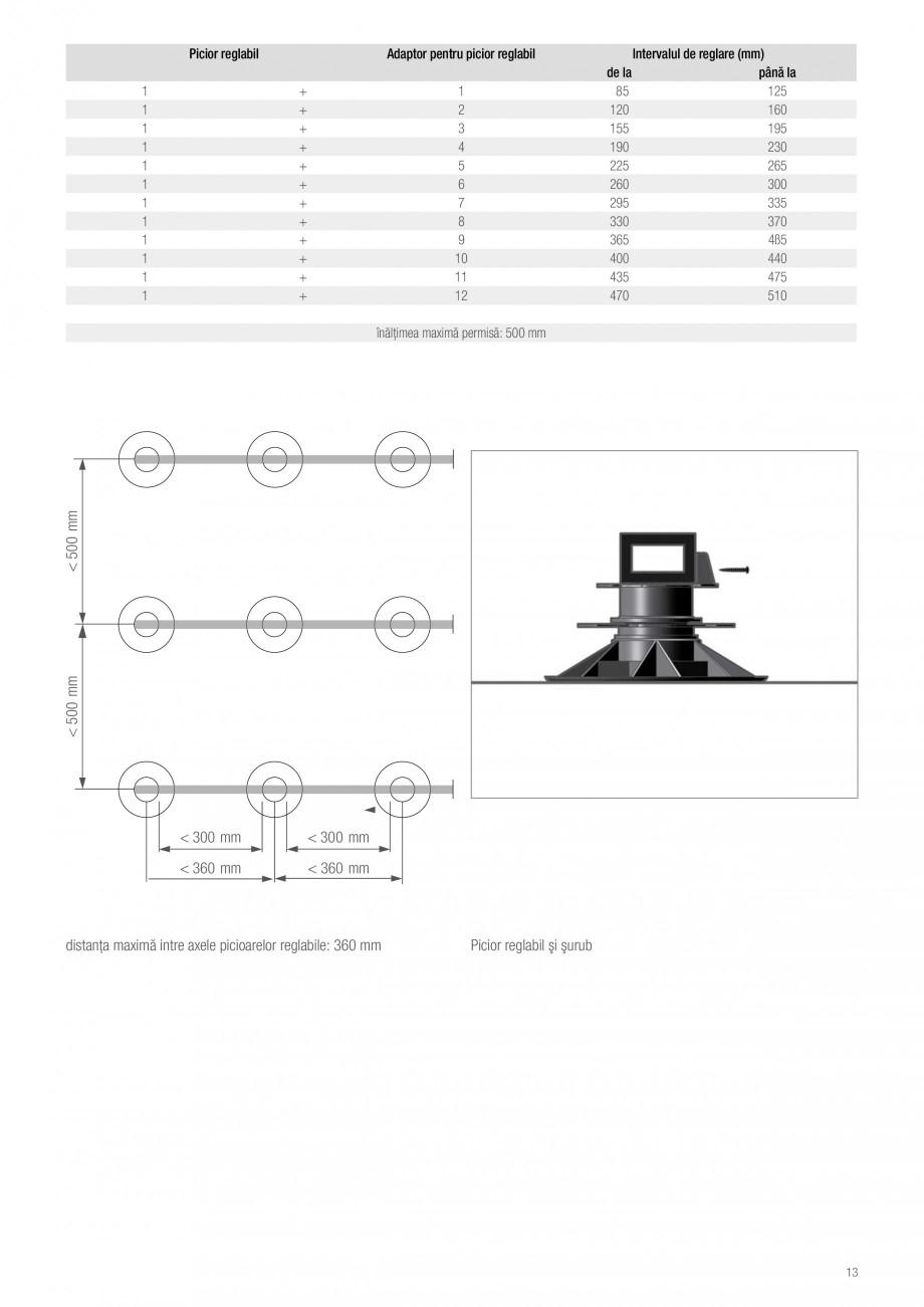 Instructiuni montaj, utilizare Sistemul de pavare terase RELAZZO Deck, RELAZZO Rhombus, RELAZZO Screen REHAU Decking compozit tip WPC pentru pavaje terase, pardoseli piscine - RELAZZO REHAU POLYMER  acoperişului plat. Acoperișul plat va fi executat de o societate specializată la alegerea... - Pagina 14