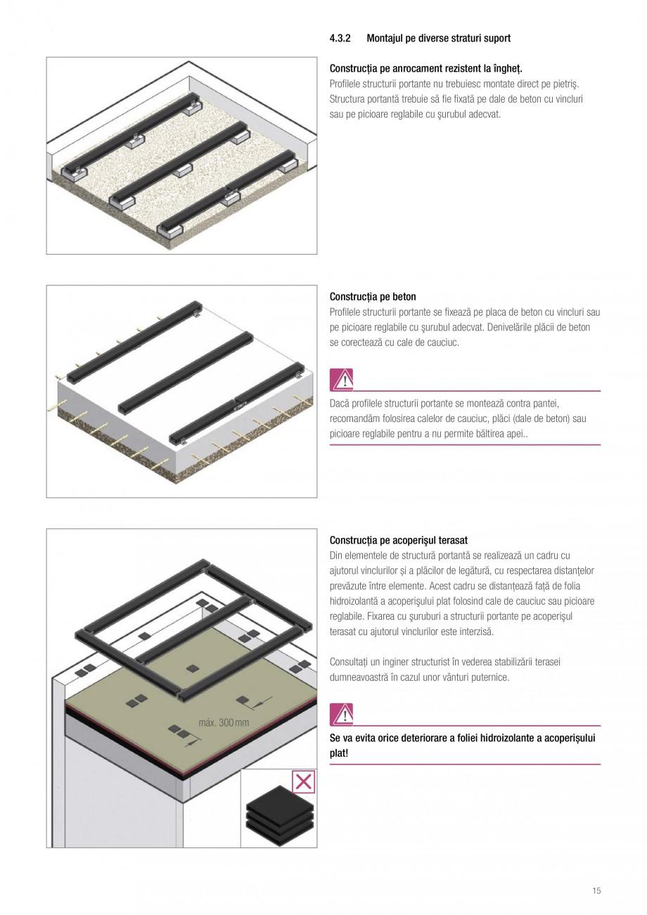Instructiuni montaj, utilizare Sistemul de pavare terase RELAZZO Deck, RELAZZO Rhombus, RELAZZO Screen REHAU Decking compozit tip WPC pentru pavaje terase, pardoseli piscine - RELAZZO REHAU POLYMER i portante, respectiv profilele de pardoseala (laţimea totală (mm) = min 2 x )  Rost de dilataţie... - Pagina 16