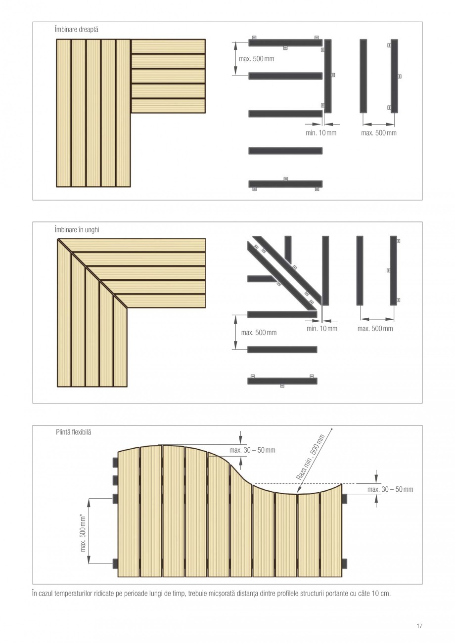 Instructiuni montaj, utilizare Sistemul de pavare terase RELAZZO Deck, RELAZZO Rhombus, RELAZZO Screen REHAU Decking compozit tip WPC pentru pavaje terase, pardoseli piscine - RELAZZO REHAU POLYMER balast  Placă de beton  Acoperiș terasat  Moduri de pozare – Distribuirea elementelor structurii... - Pagina 18